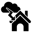 Storm Building Flat Icon vector image