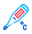 thermometer tool icon outline vector image