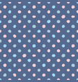 tile pattern with pastel hand drawn dots on blue vector image