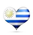 Uruguay Heart flag icon vector image