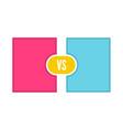 vs letters icon vector image