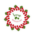 with watercolor red currants frame hand drawn vector image vector image