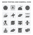 wood sawmill icon vector image vector image