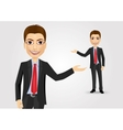 young businessman showing something vector image vector image