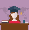 Flat design modern icons set of distance education vector image