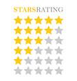golden star rating vector image