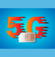 5g business5g sim card vector image