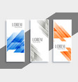 abstract set geometric banners vector image vector image