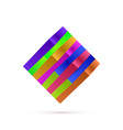 Abstract Square Logo For Your Business vector image vector image