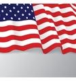 American flag patriotic vector image vector image