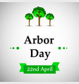 arbor day background vector image