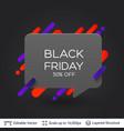 black badge black friday sticker vector image