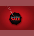 black friday sale background with shopping label vector image vector image