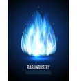 Blue Flame Background vector image vector image