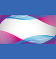 blue nad purple wavy lines on paper vector image