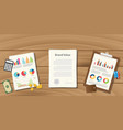 brand value concept with paperwork document on vector image