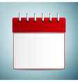 Calendar red icon isolated on blue background vector image vector image