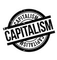 capitalism rubber stamp vector image