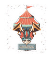 carnival circus tent icon vector image vector image