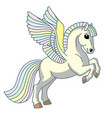 cartoon pegasus vector image