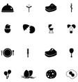chicken icon set vector image vector image