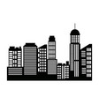 cityscape skyline silhouette town architecture vector image