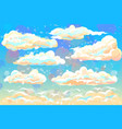 color hand-drawn image clouds and blue sky vector image vector image