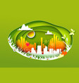 concept of eco life style city vector image