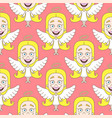 cute angel seamless pattern vector image vector image