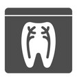 dental xray solid icon tooth xray vector image vector image
