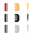 design of brush and hair logo set of brush vector image
