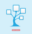 diagram tree vector image