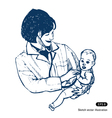 Doctor with baby vector image
