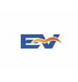 EV Logo vector image vector image