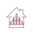 extended family rgb color icon vector image