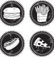 Fast food logo vector image vector image