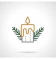 Festive candle simple color line icon
