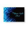 festive greeting card with neon light vector image vector image