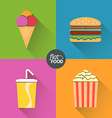 Flat food symbol vector image