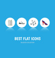 flat icon garment set of sneakers foot textile vector image vector image