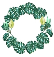 Frame with monstera leaves Decorative image of vector image vector image