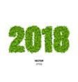 green grass 2017 vector image vector image