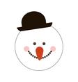 happy snowman cartoon icon image vector image vector image