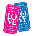 his and hers love tickets vector image vector image