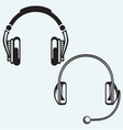 Icon headphones vector image vector image