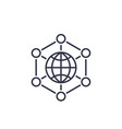 international business global markets line icon vector image