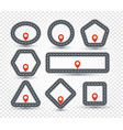 isolated geometric pin logo set road sign vector image vector image