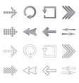 isolated object of element and arrow sign set