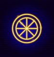 lemon slice neon sign vector image vector image