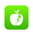lightning apple icon green vector image vector image